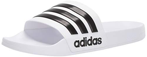 adidas Men's Adilette Shower Slide, White/Core...