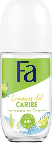 Fa Caribbean Roll-On Deodorant Lemon 50 ml 48-hour -...