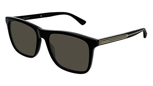 Gucci GG0381S 007 57M Black/Grey Polarized Square...