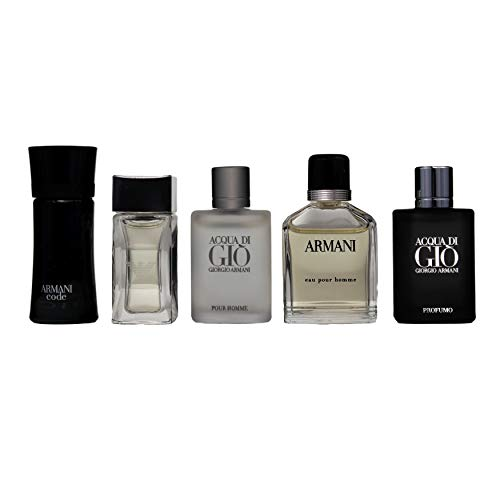 Armani 5 Piece Set For Men (Code 4ml/Diamonds 4ml/Adg...