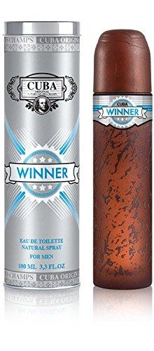 Cuba Winner Eau de Toilette Spray for Men, 3.3 Ounce