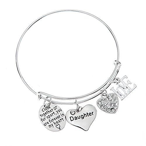 Daughter Bracelet- Daughter Jewelry- Never Far Apart -...