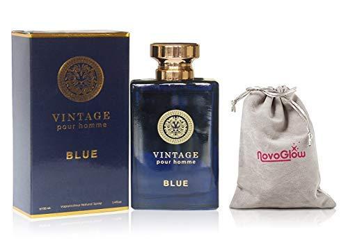 Vintage Blue Eau de Parfum Cologne for Men With...