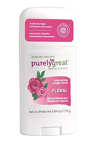 Purelygreat Natural Deodorant Stick - Floral - EWG...