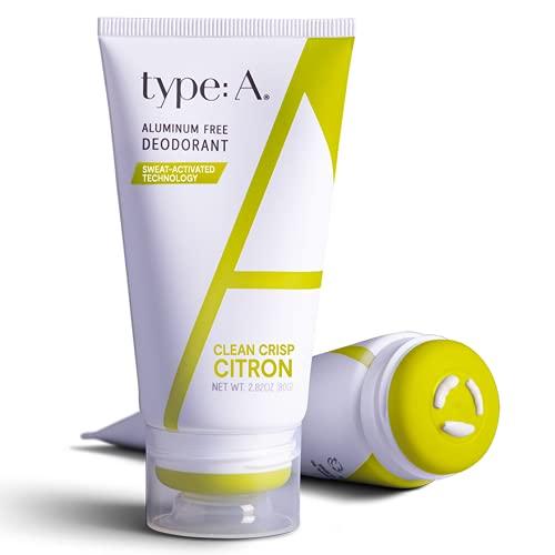 Type:A Natural Deodorant For Women | Crisp Citron -...