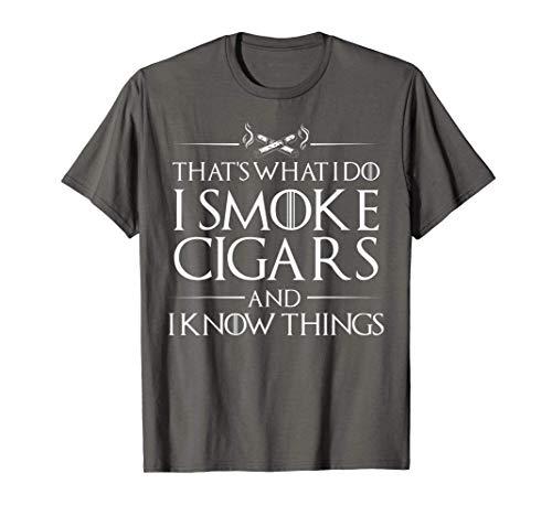 Smoke Cigars Smoker Shirt - Ideal Clever Class Men Gift...