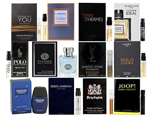 Designer Fragrance Sampler for Men - Lot x 12 Cologne...