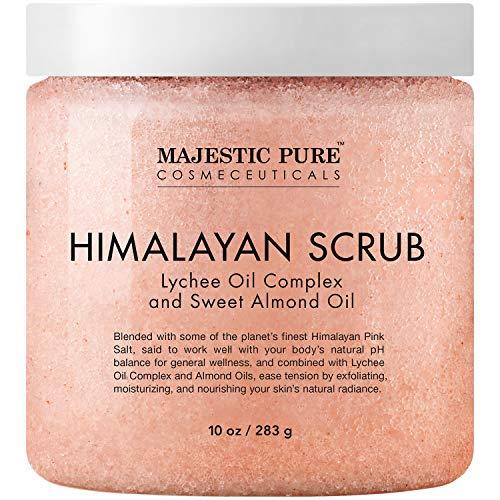 Majestic Pure Himalayan Salt Body Scrub with Lychee...